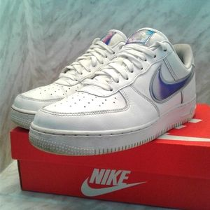 Nike Air Force1 '07 LV8 Low Size 8.5  White Racer